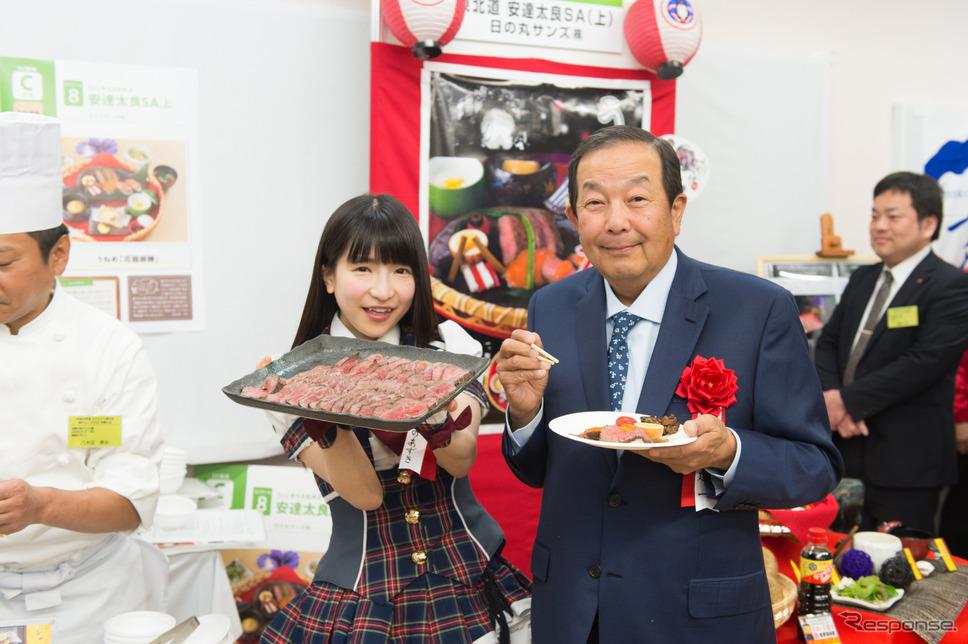 平成29年度 NEXCO東日本 新メニューコンテスト審査員には、爆食女王のもえのあずきさんと中華の鉄人陳建一さんも