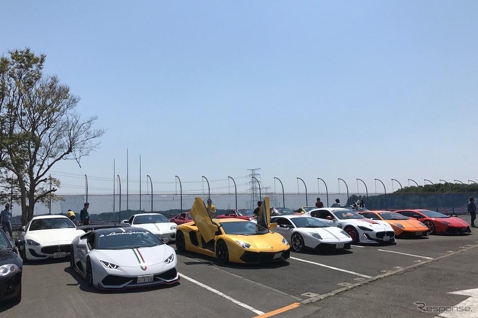 筑波サーキット・カーフェスティバル2018でスーパーカーショーが開催(2018年5月5日)