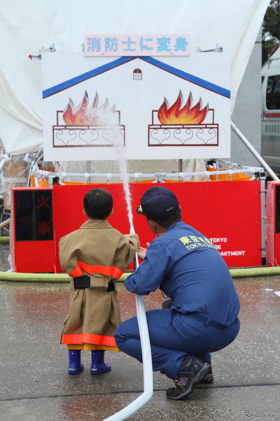 消火体験(東京国際消防防災展2013)