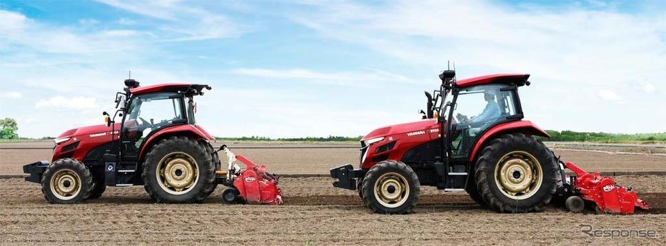 2台のトラクターによる協調作業