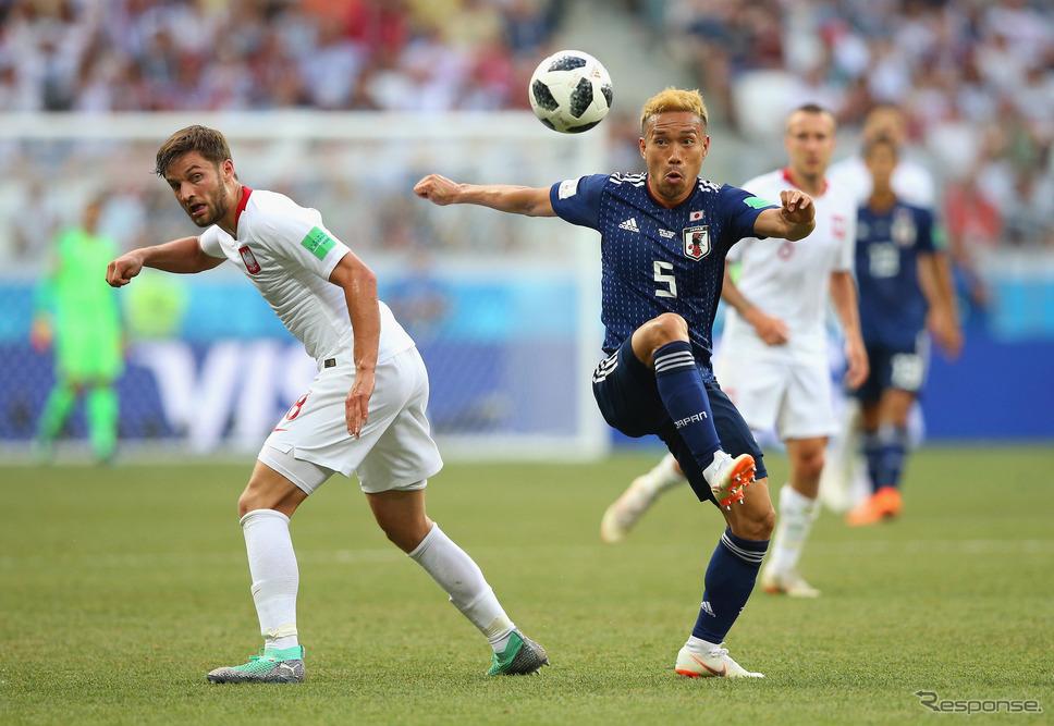 サッカー・ワールドカップ、日本vsポーランド (c) Getty Images