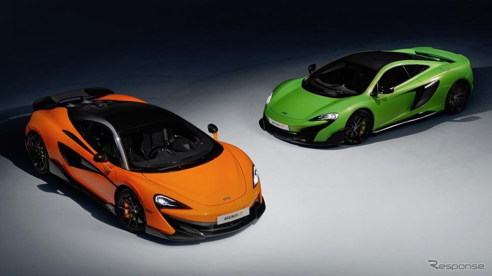 600LT(橙)と675LT(黄緑)