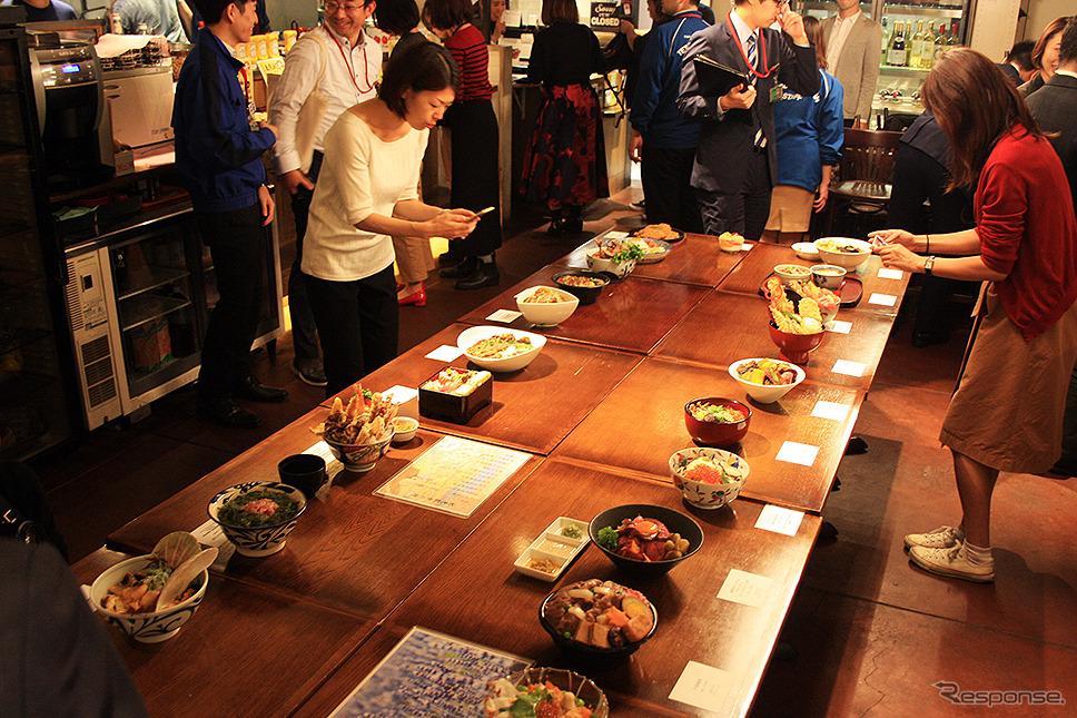 関係者試食会(東京駅、9月26日)