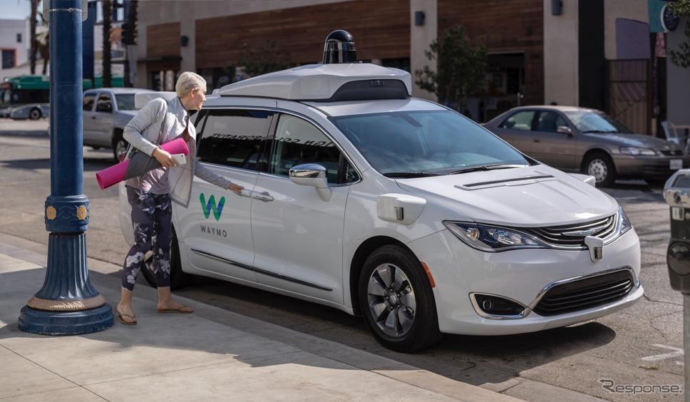グーグルのウェイモが運用を開始した無人の自動運転タクシー(参考画像)