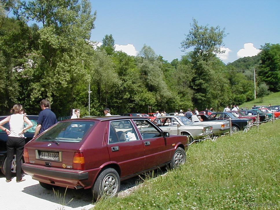 2002年7月、北部トレヴィーゾのランチア愛好会ミーティングを取材したとき。