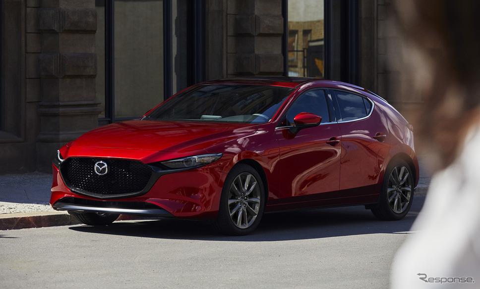 マツダは、新型SUVを近く発表、量産するという。 写真は新世代第一弾のMazda 3(北米仕様)
