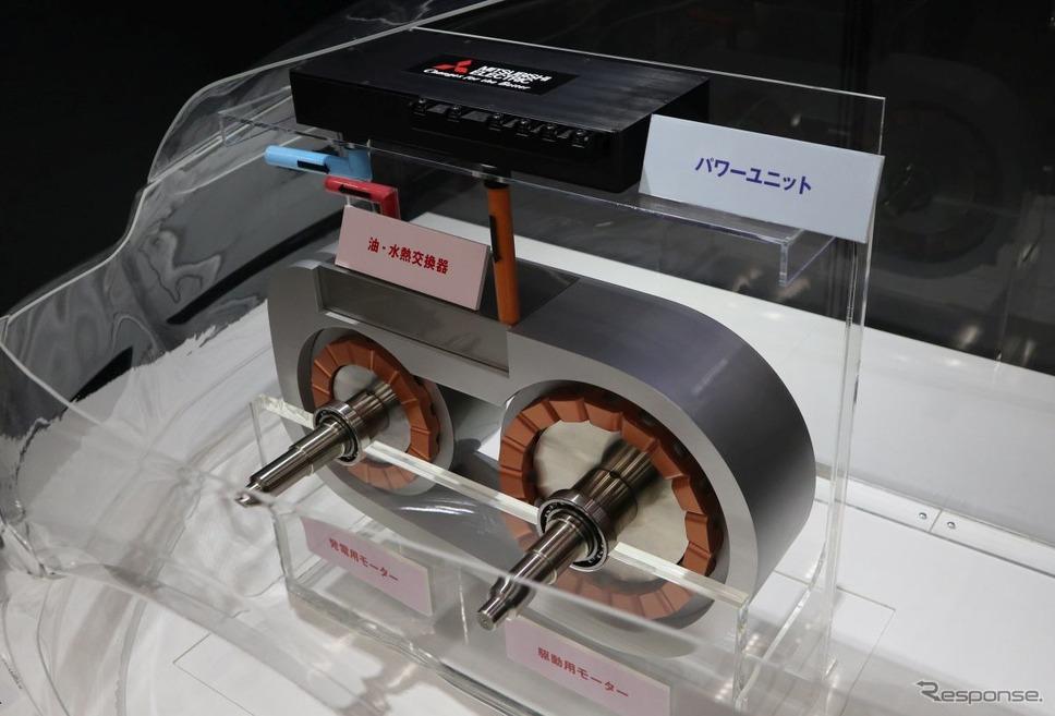 2軸のハイブリッド用モーター