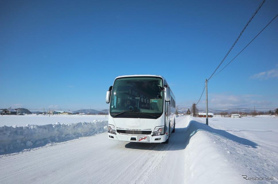 三菱ふそうトラック・バス寒地試験(2018年)