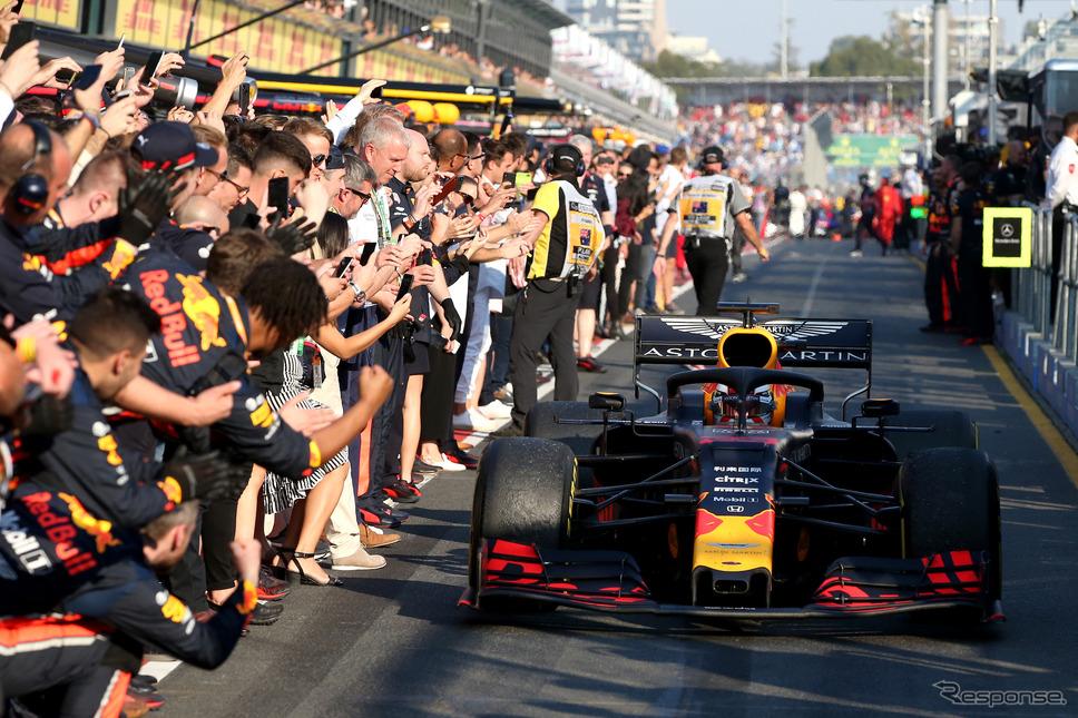 F1オーストラリアGP、レッドブル・ホンダのフェルスタッペンが3位