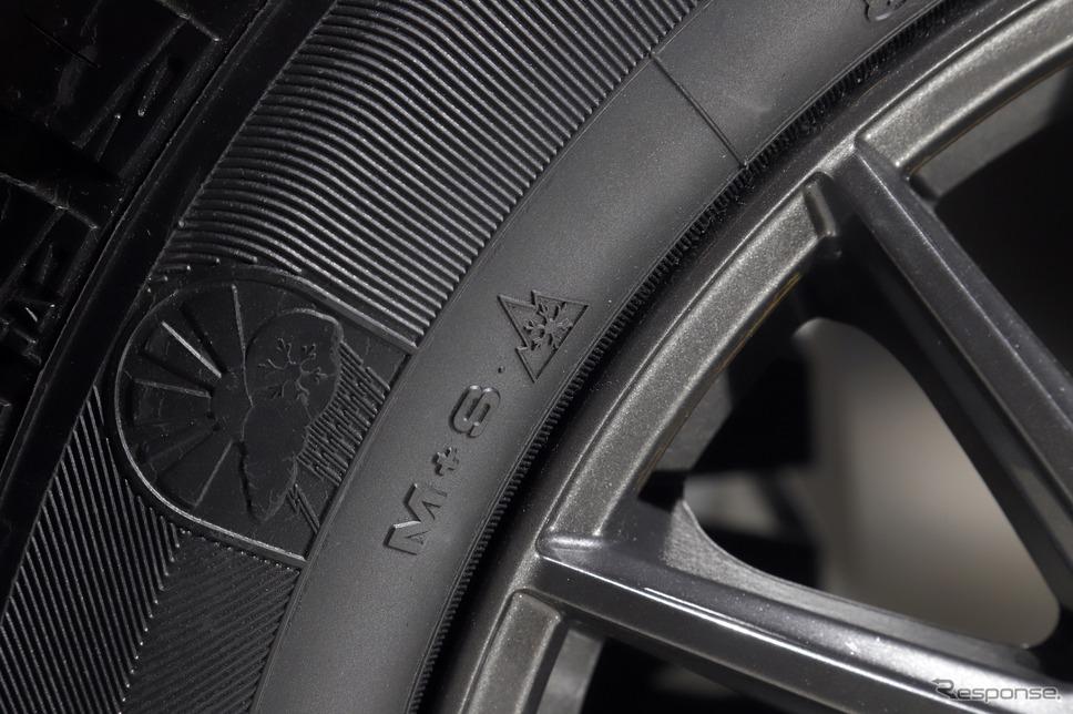 冬用タイヤ規制でも走行可能な「スノーフレークマーク」