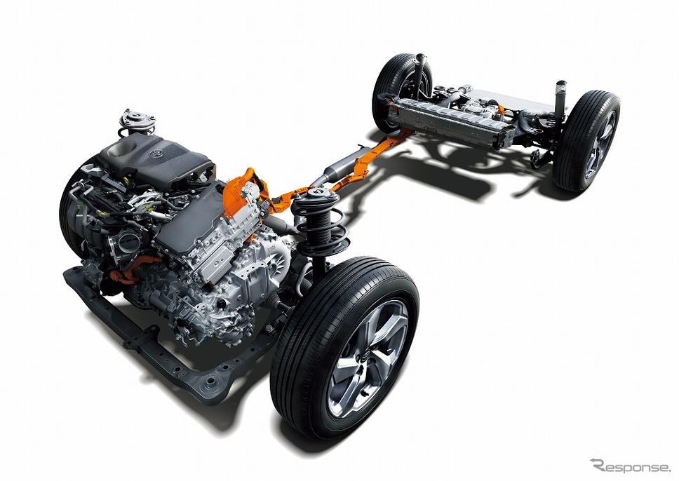トヨタ RAV4(ハイブリッド車)のTHS II (2.5リットル直列4気筒ダイナミックフォースエンジン+E-Four)