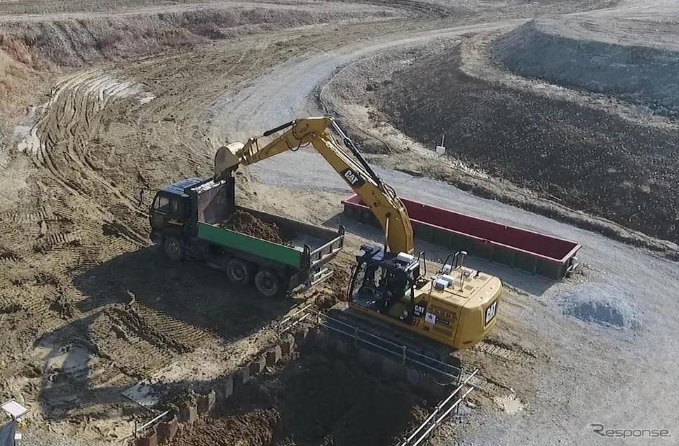 第2段階:自律制御による掘削作業