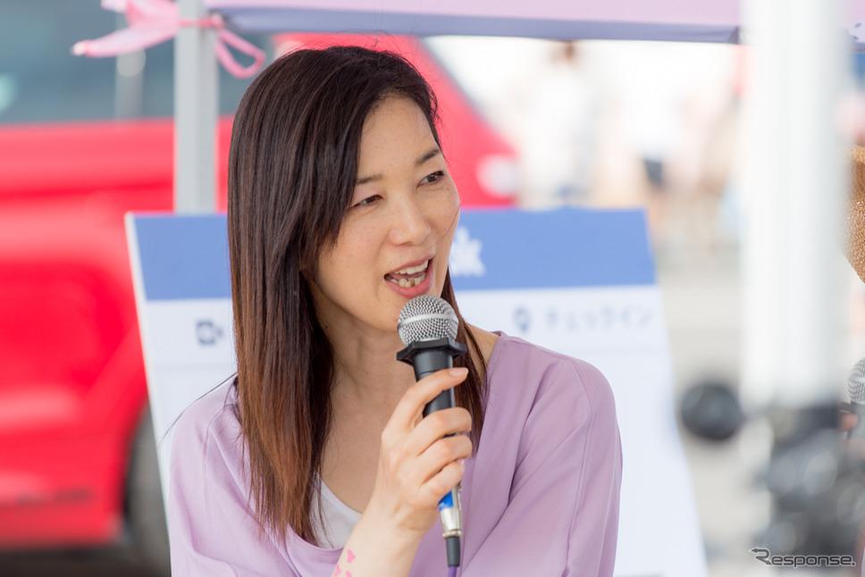 まるも亜希子さん(筑波サーキット・カーフェスティバル2019)