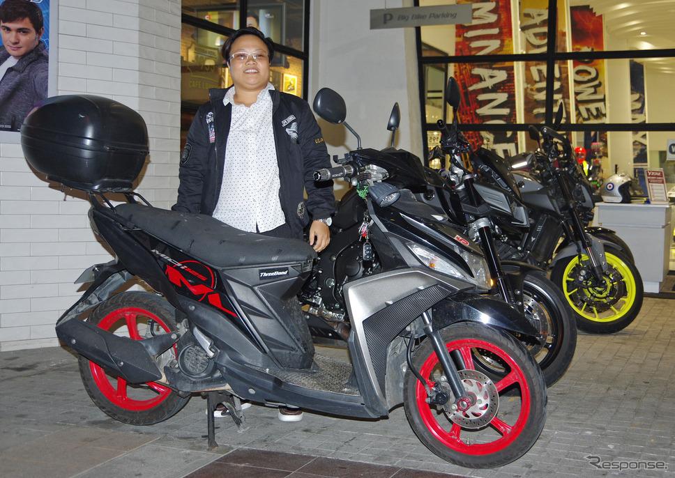 フィリピンで人気のスクーター、ヤマハ Mio i 125オーナーのジミリン