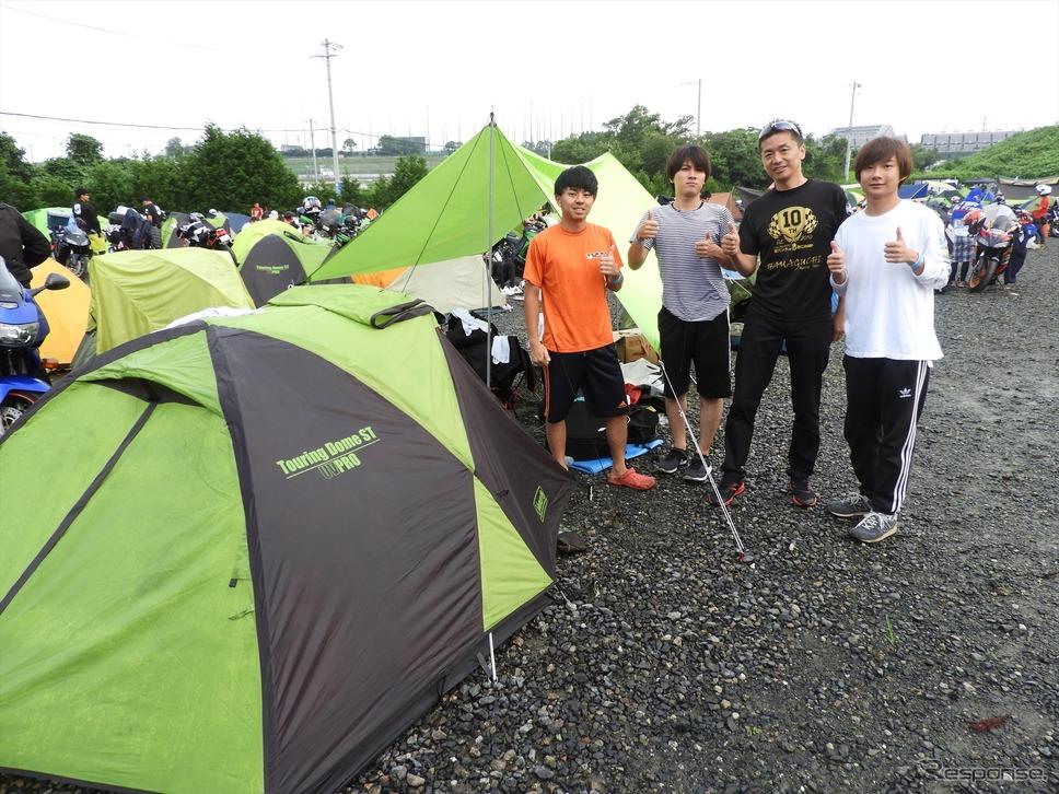 若い参加者が増えたという逆バンクde8耐CAMP
