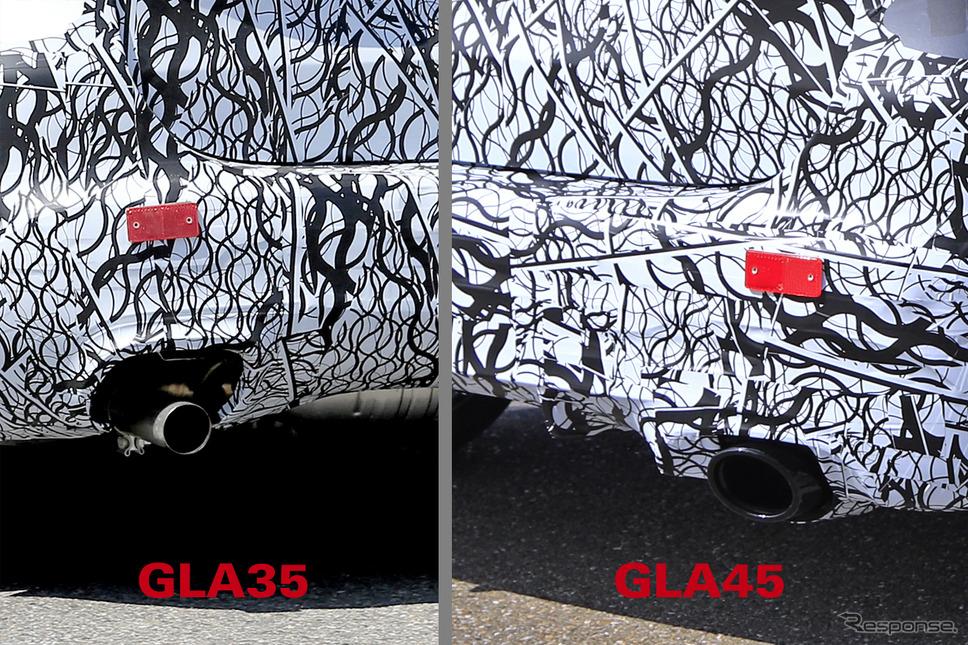 メルセデスAMG GLA35/45 を同時スクープ!両車の違い