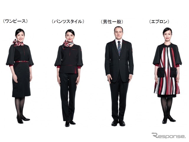 JALの新制服(客室乗務員)