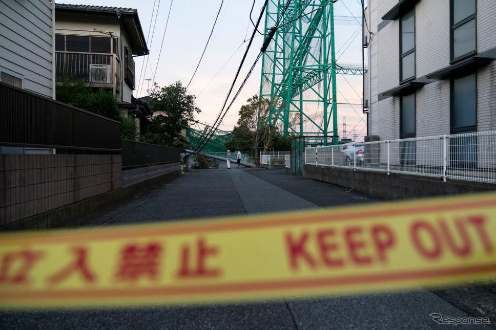 台風15号の被害(千葉県市原市)