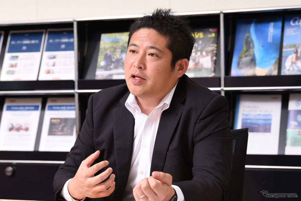 ヤマハ発動機販売・広報・商品企画グループの井下田憲弘さん