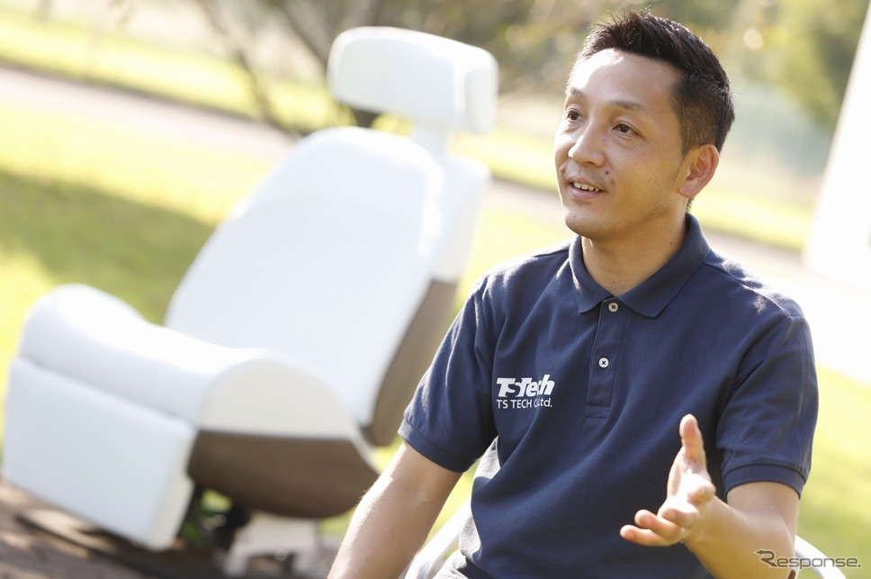愛されるシートプロジェクトリーダーの郭裕之さん「愛されるシートはこれまで約2800人の方に体験して頂きました。」