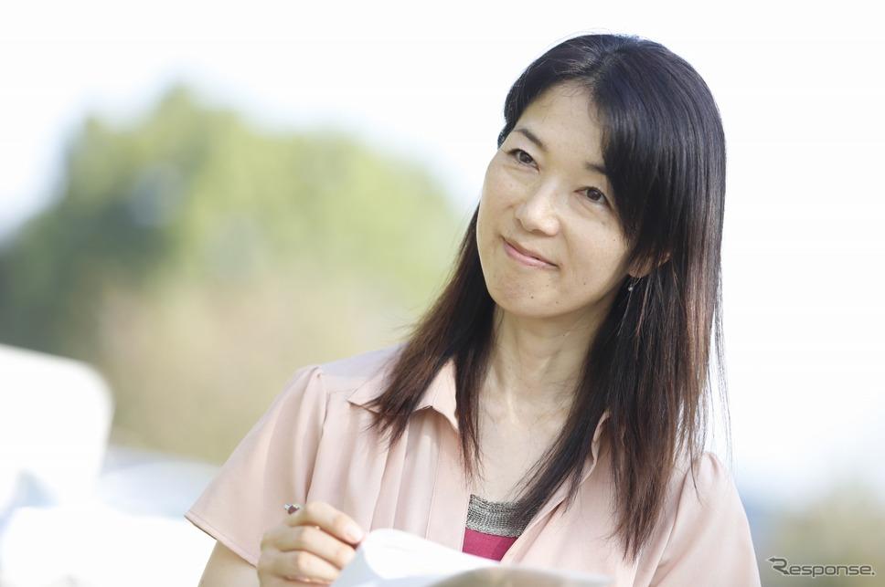 まるも亜希子さん「座ったら誰もが自然と笑顔になることが良く分かりました。」