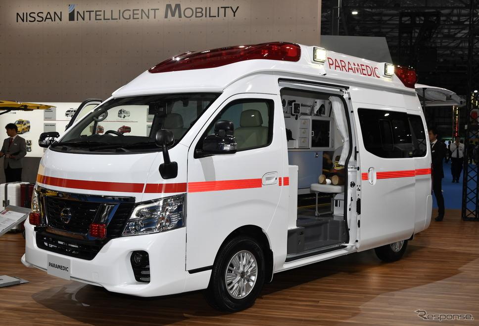 日産パラメディック 電動ストレッチャー、リチウムイオンバッテリー搭載(東京モーターショー2019)