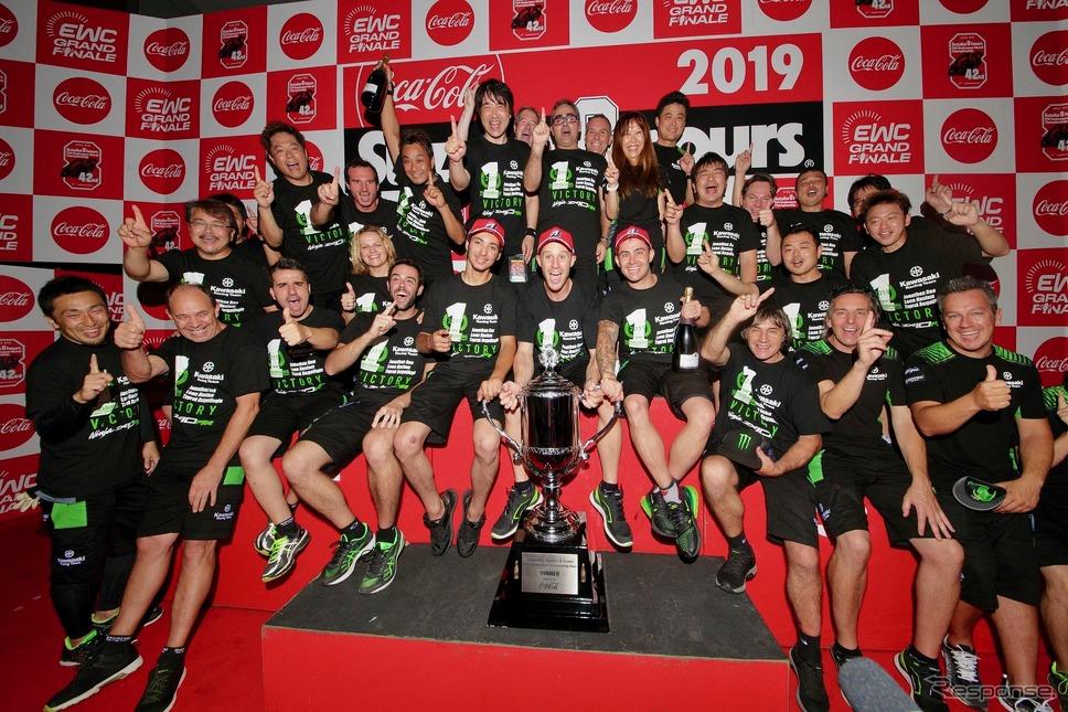 鈴鹿8耐で8年連続ブリヂストン装着チームの優勝、2019年大会では「Kawasaki Racing Team Suzuka 8H」が26年ぶりの優勝を果たした