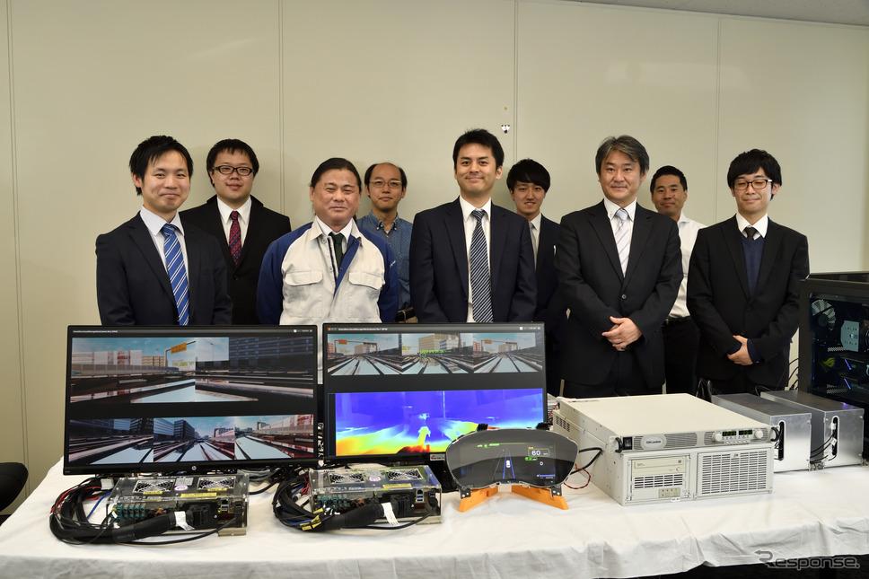 HILS+VR空間技術の開発とそれを応用した自動運転開発を行う開発チームのメンバー