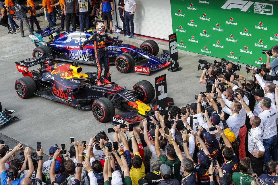 F1ブラジルGP、フェルスタッペンが優勝(レッドブル・ホンダ、11月18日)