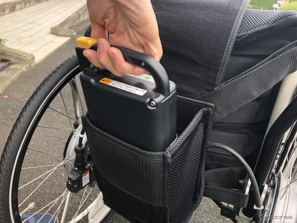 ヤマハの電動車いすに搭載する充電式バッテリー