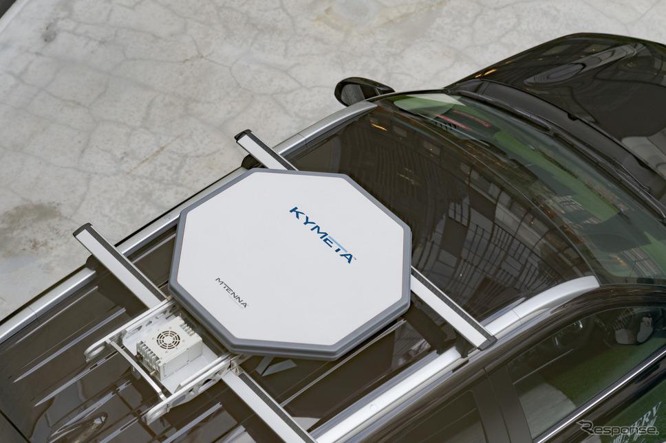 カイメタ社製アンテナ。省スペースなことも売りのひとつだ。