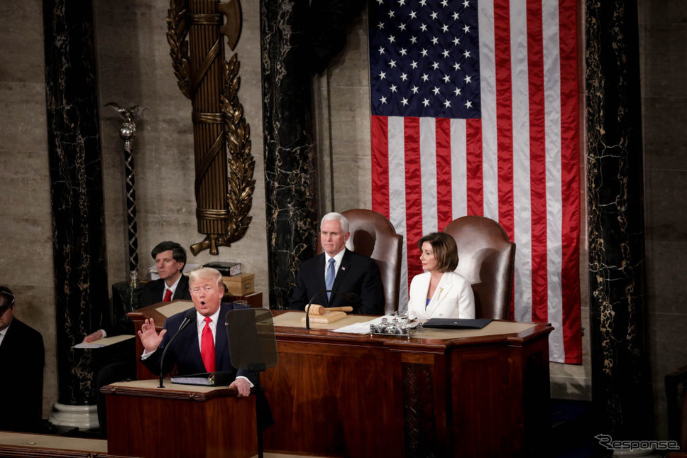 米トランプ大統領の一般教書演説