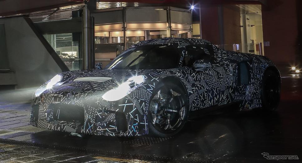 マセラティの新型スーパーカー「MC20」のプロトタイプ