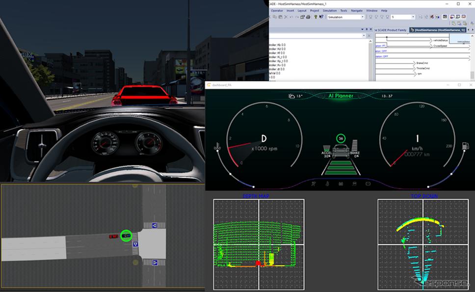 周りの交通の状況等も判断して、高度なシミュレーションが行われる