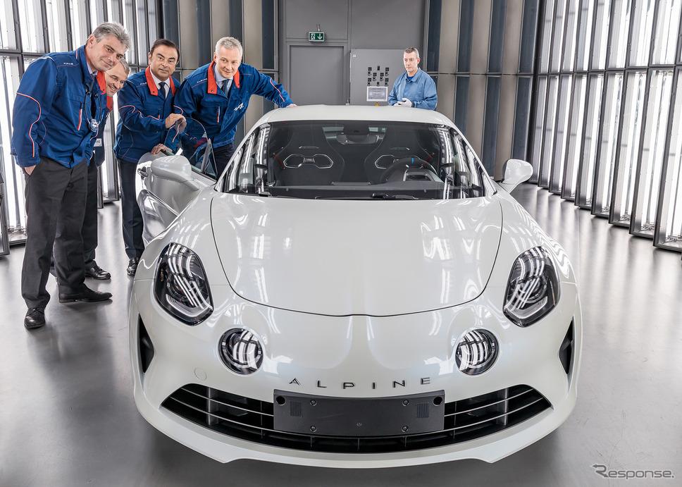 アルピーヌ A110 を生産するフランス・ディエップ工場。2017年の落成時には当時のトップ、カルロス・ゴーン氏も