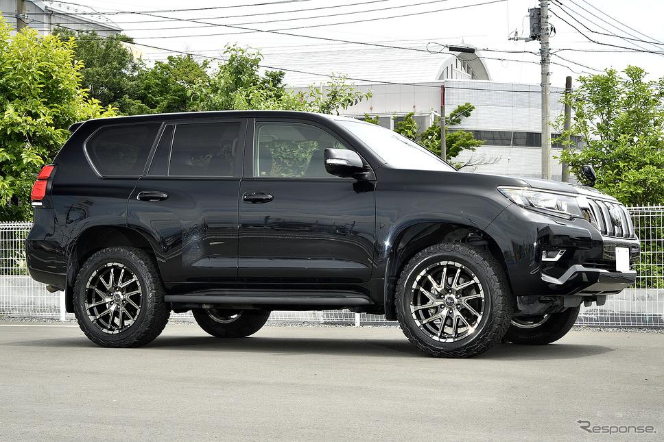 装着サイズ:20inx8.5J Inset+20 6H-139.7 カラー:ブラックメタリックポリッシュ/ブラッククリア/フランジピアスドリルド タイヤサイズ:275/55R20