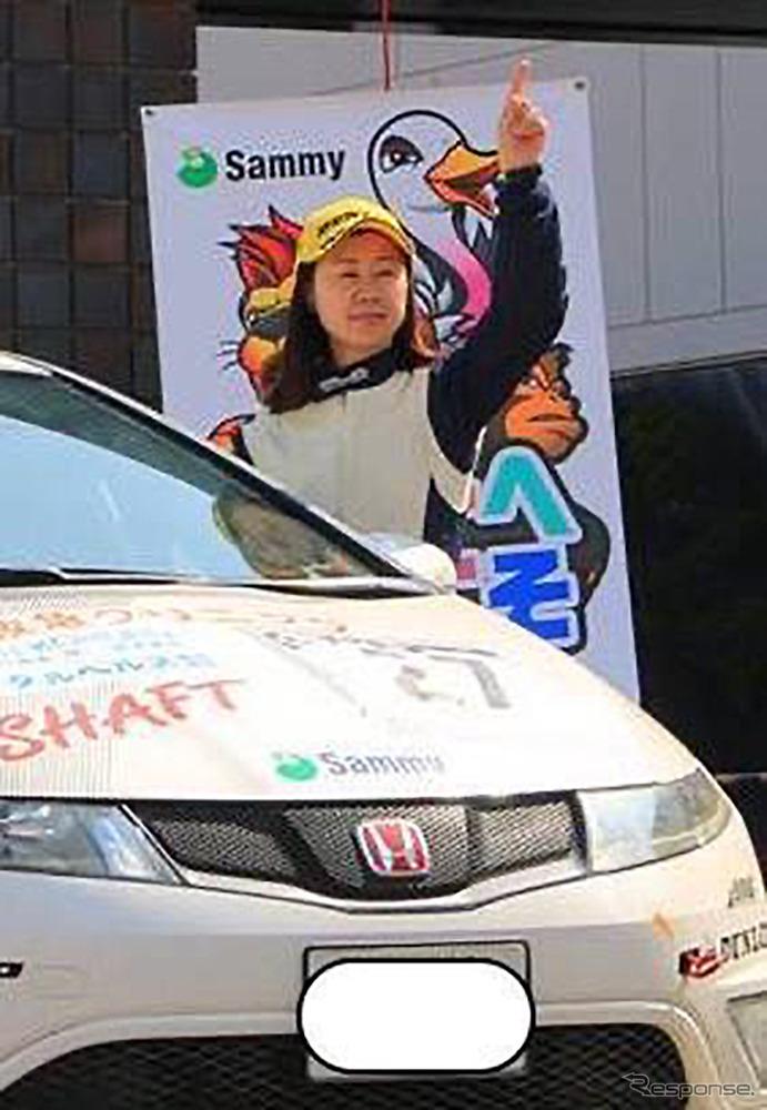 コ・ドライバーとして様々なラリーに参戦する漆戸あゆみさん