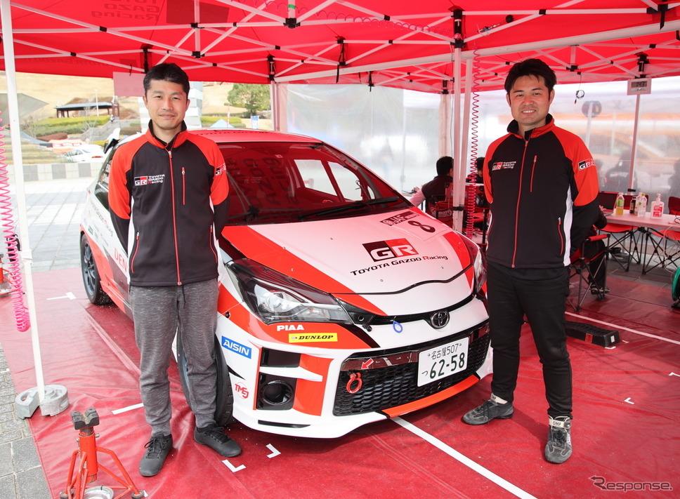 TOYOTA Gazoo Racingチーム眞貝知志さん(左)と安藤裕一さん(右)