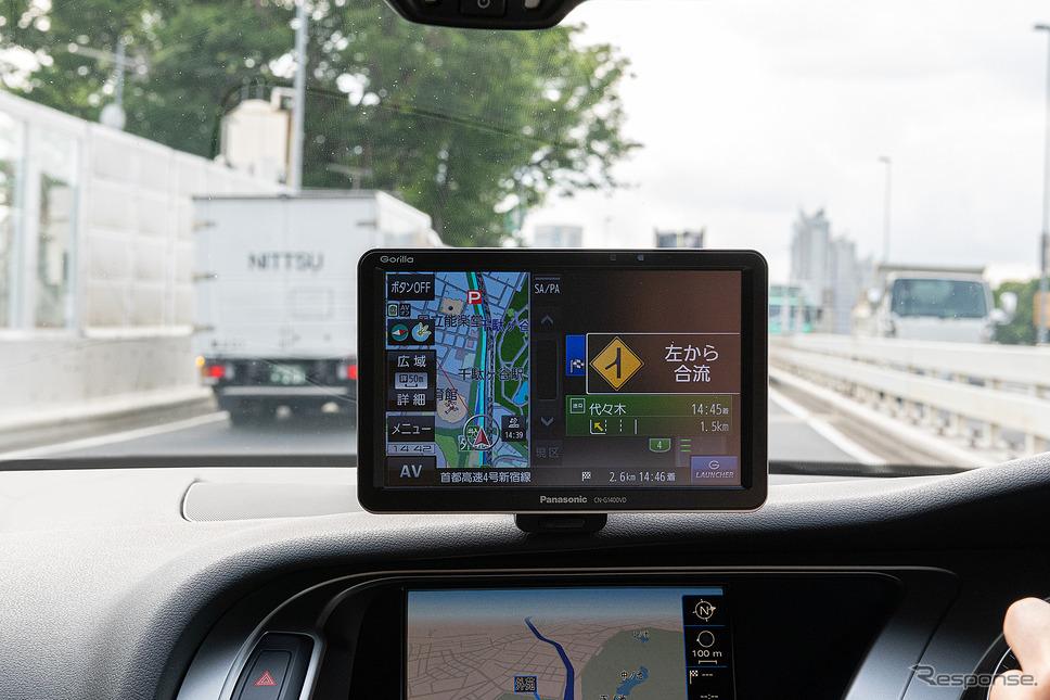 高速道路でもタイミングよく注意喚起が行われた