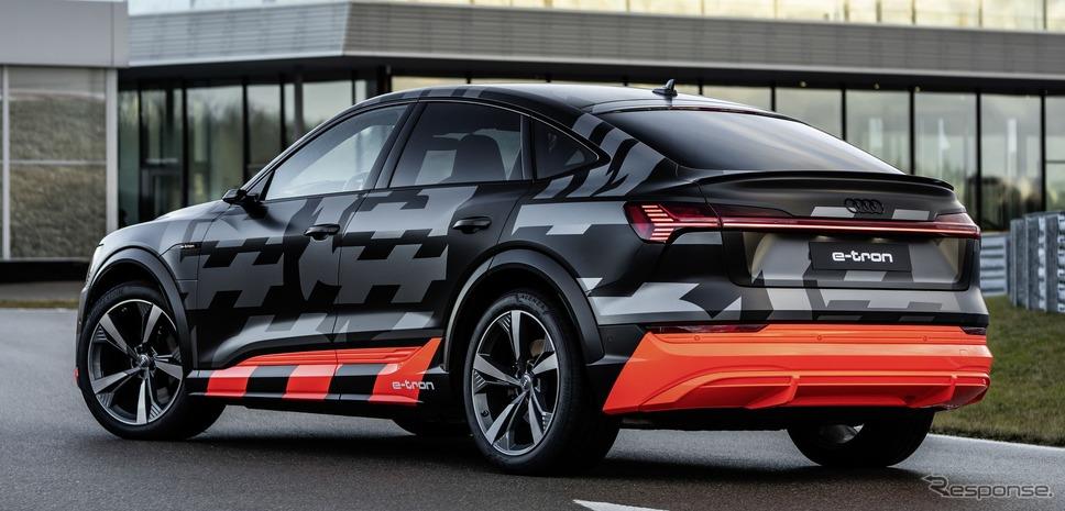 アウディ e-tron S スポーツバック のプロトタイプ