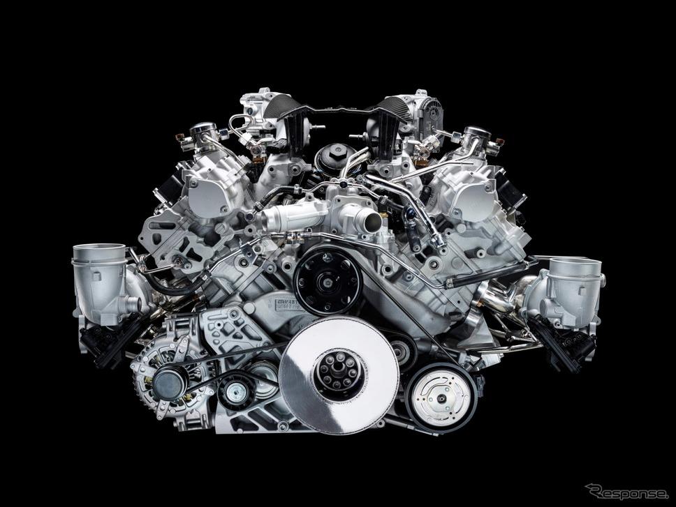 マセラティ MC20 に搭載される新開発の3.0リットルV型6気筒ツインターボエンジン