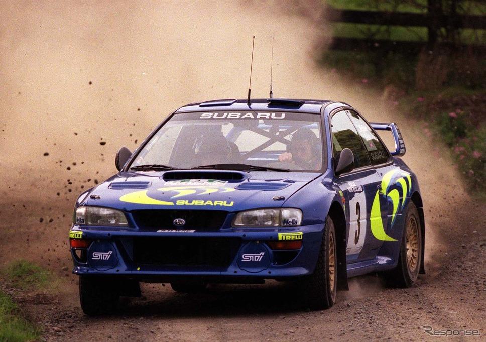 コリン・マクレーが駆ったWRCインプレッサ。写真は1998年