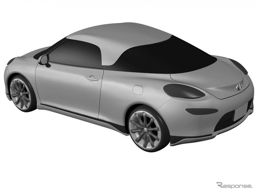 トヨタの新型ミッドシップ車と思われる特許画像