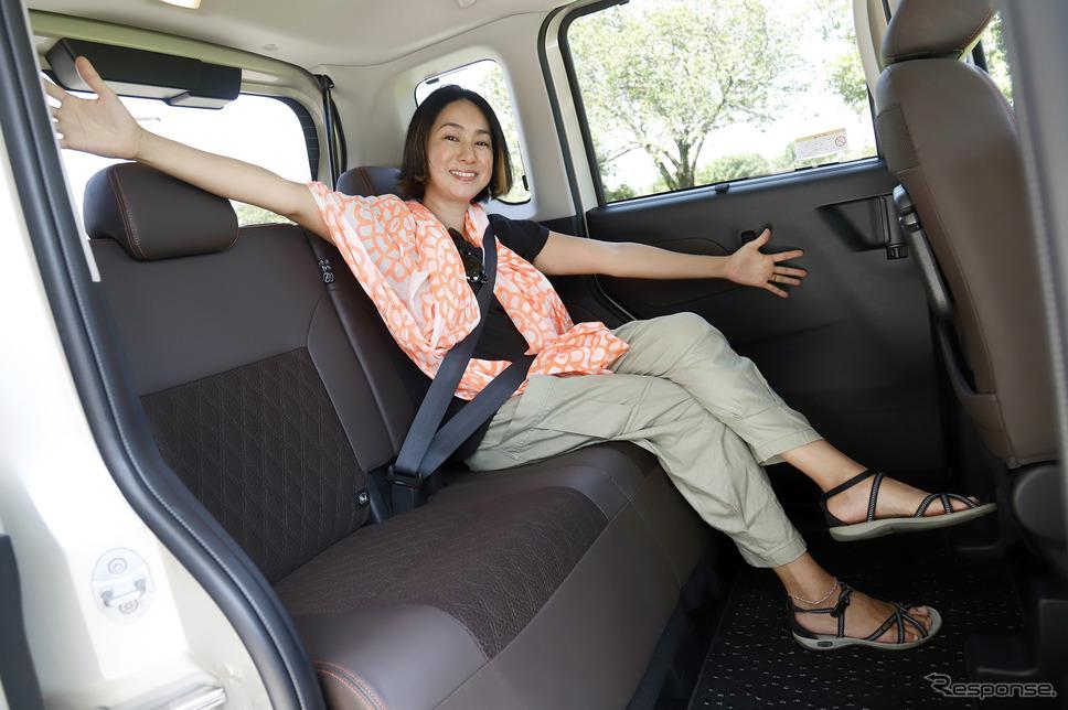 「もはや軽自動車という概念がガラガラと崩れ落ちます」と驚くほどの後席の広さ