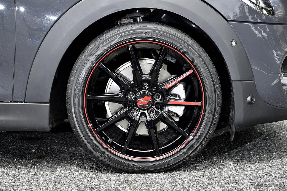 MID【RMP R25】推奨サイズ:18×7.5JInset50 5H-112/カラー:ブラック/リムレッドライン/タイヤサイズ:215/40R18