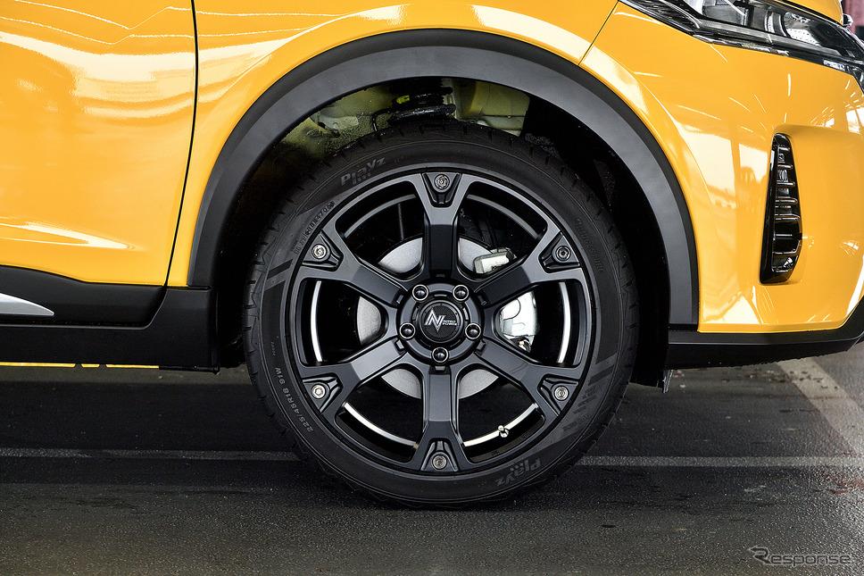 NITROPOWER WARHEAD-S 推奨サイズ:18×7.0JInset42 5H-114.3/カラー:セミグロスブラック+アンダーカット/タイヤサイズ:225/45R18