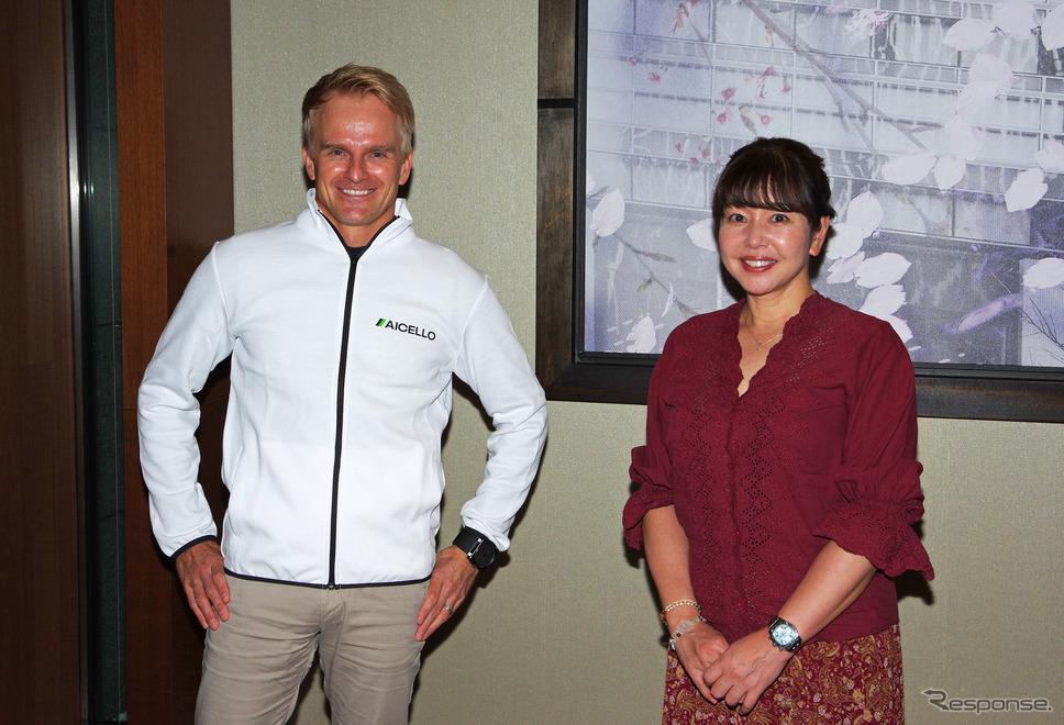ヘイキ・コバライネン選手と竹岡圭さん