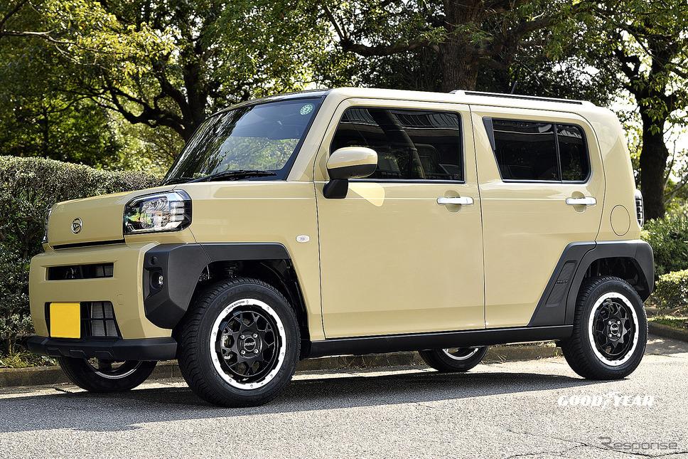 推奨サイズ:15×5JInset45 4H-100/カラー:セミグロスブラック/リムダイヤモンドカット(SBP)/タイヤサイズ:175/65R15