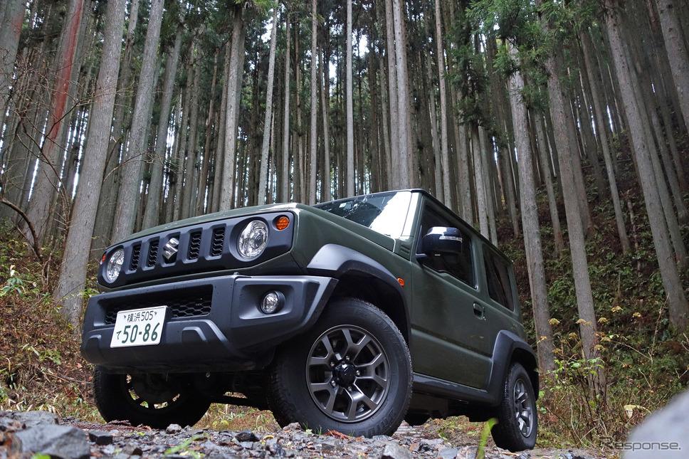 スズキ ジムニーシエラ 1.5 4WD JC。北茨城の山林にて記念撮影。