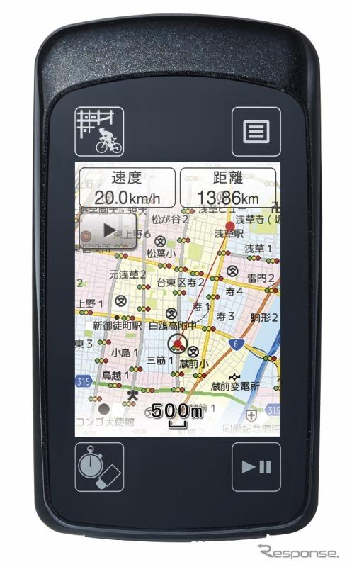 ユピテル、自転車用GPSナビの ...